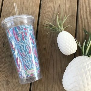 Lilly Pulitzer Acrylic Tumbler Nautical Boat Cup